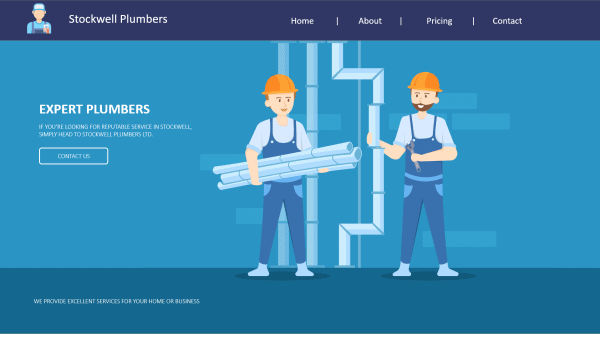 website preview stockwell plumbers
