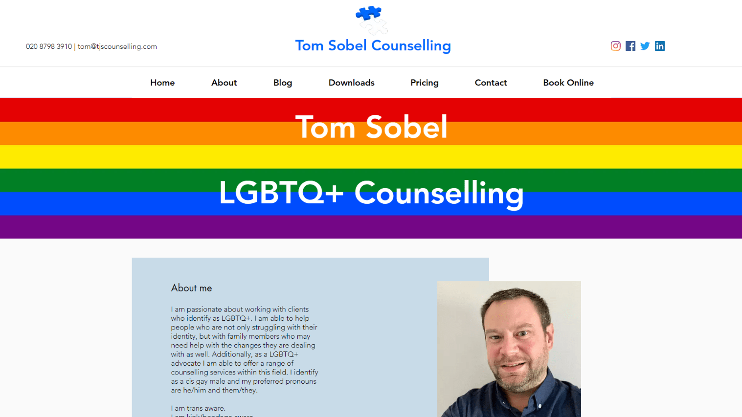 website portfolio tom-sobel